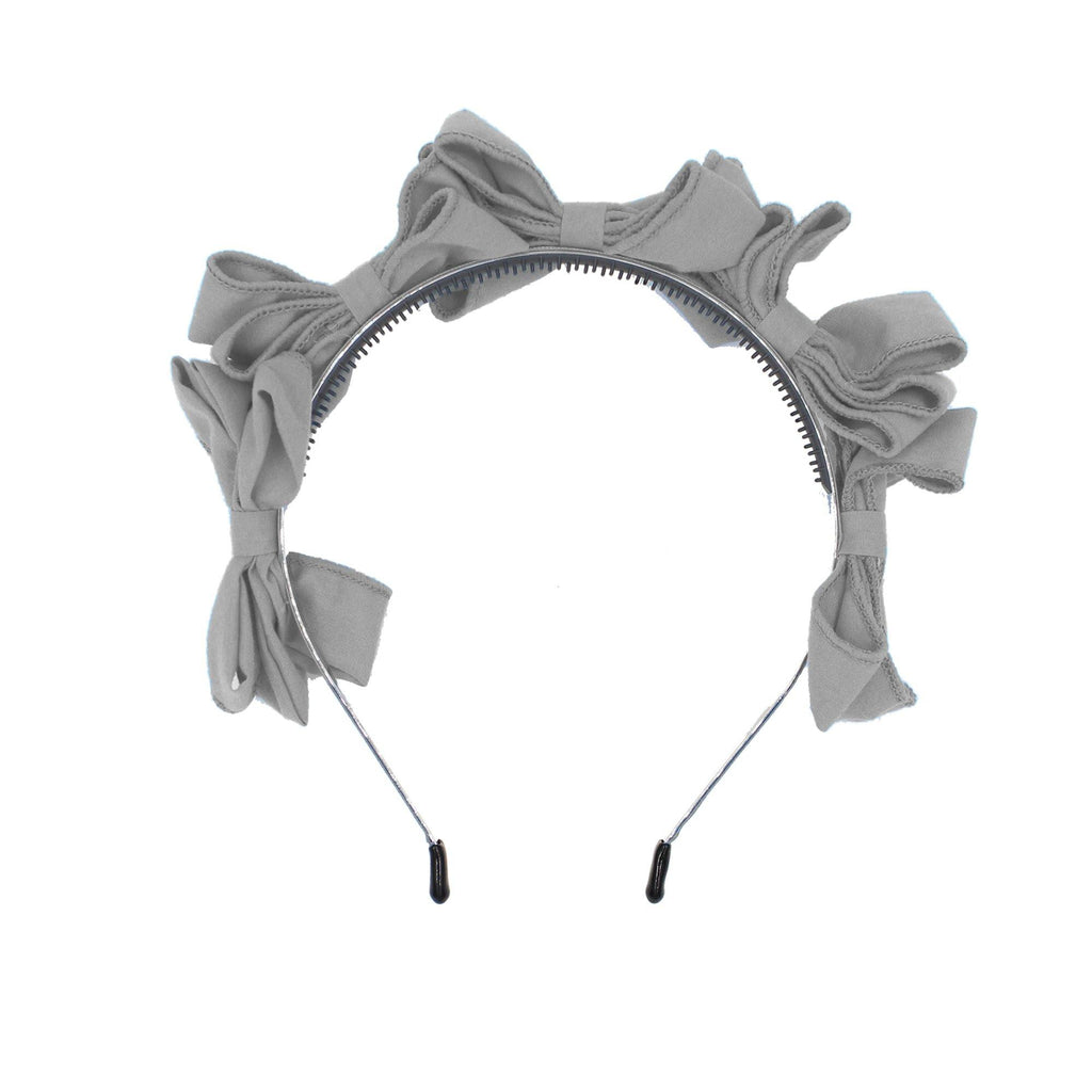 Multi BowTie Band Headband Maniere Accessories Dusty Grey