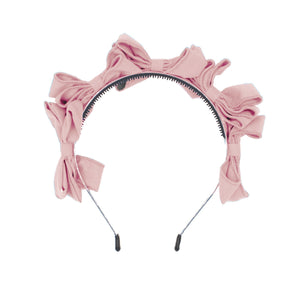 Multi BowTie Band Headband Maniere Accessories Dusty Pink
