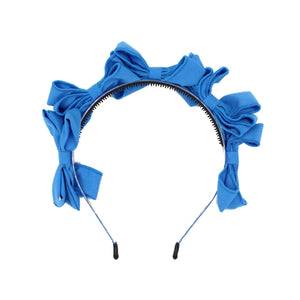 Multi BowTie Band Headband Maniere Accessories Royal Blue