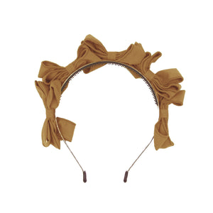 Multi BowTie Band Headband Maniere Accessories Soft Camel