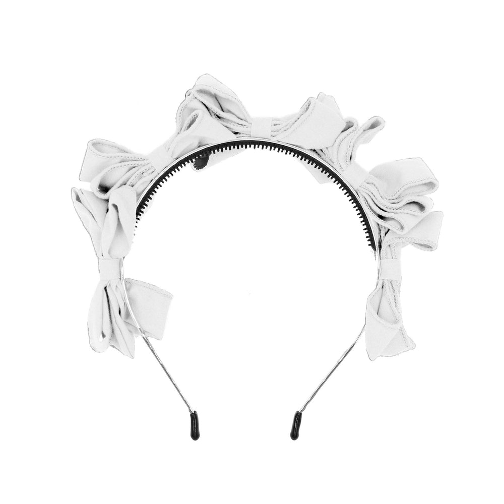 Multi BowTie Band Headband Maniere Accessories White