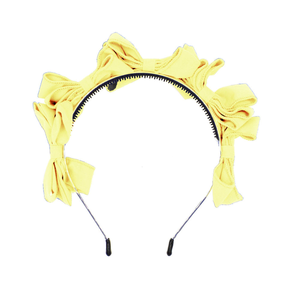 Multi BowTie Band Headband Maniere Accessories Yellow Sunshine