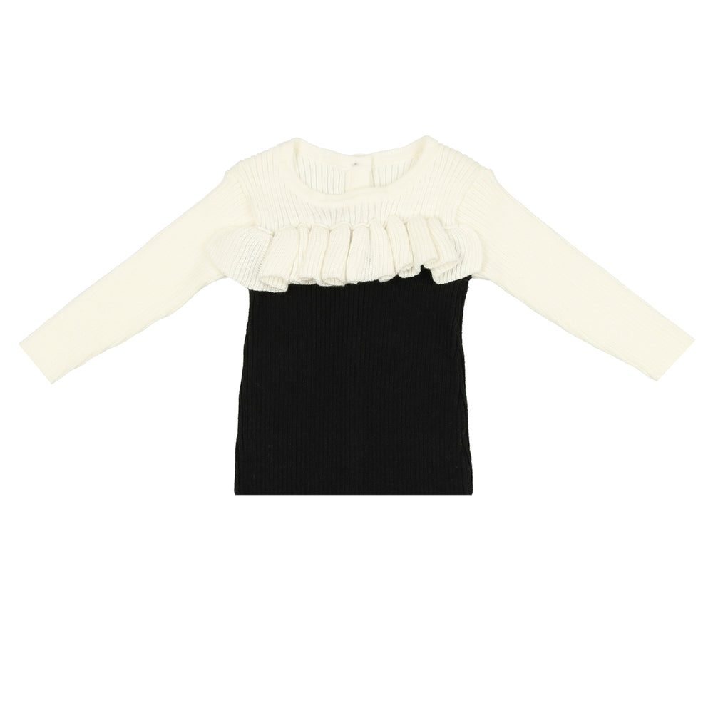 Load image into Gallery viewer, NooVèl, Ruffle Knit Top