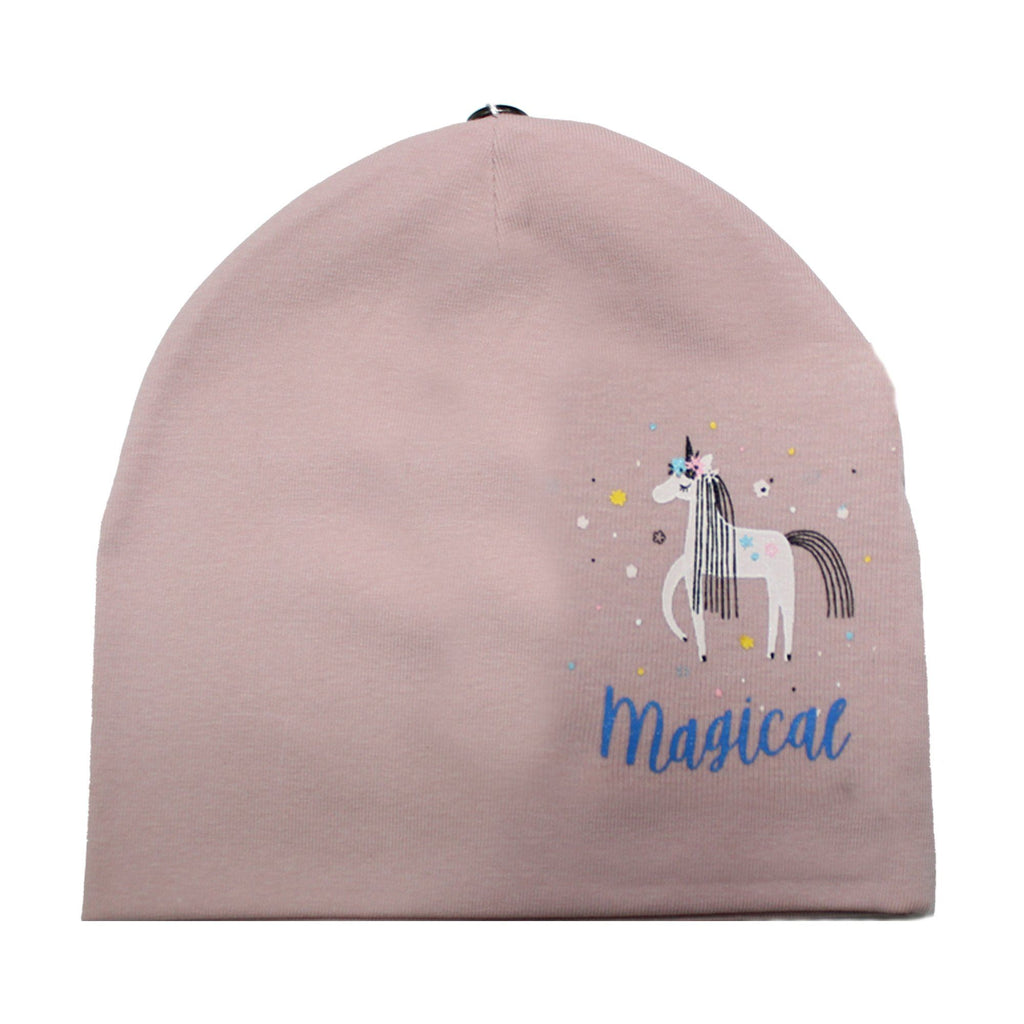 Print Cotton Beanie (with matching pom) - Maniere Accessories