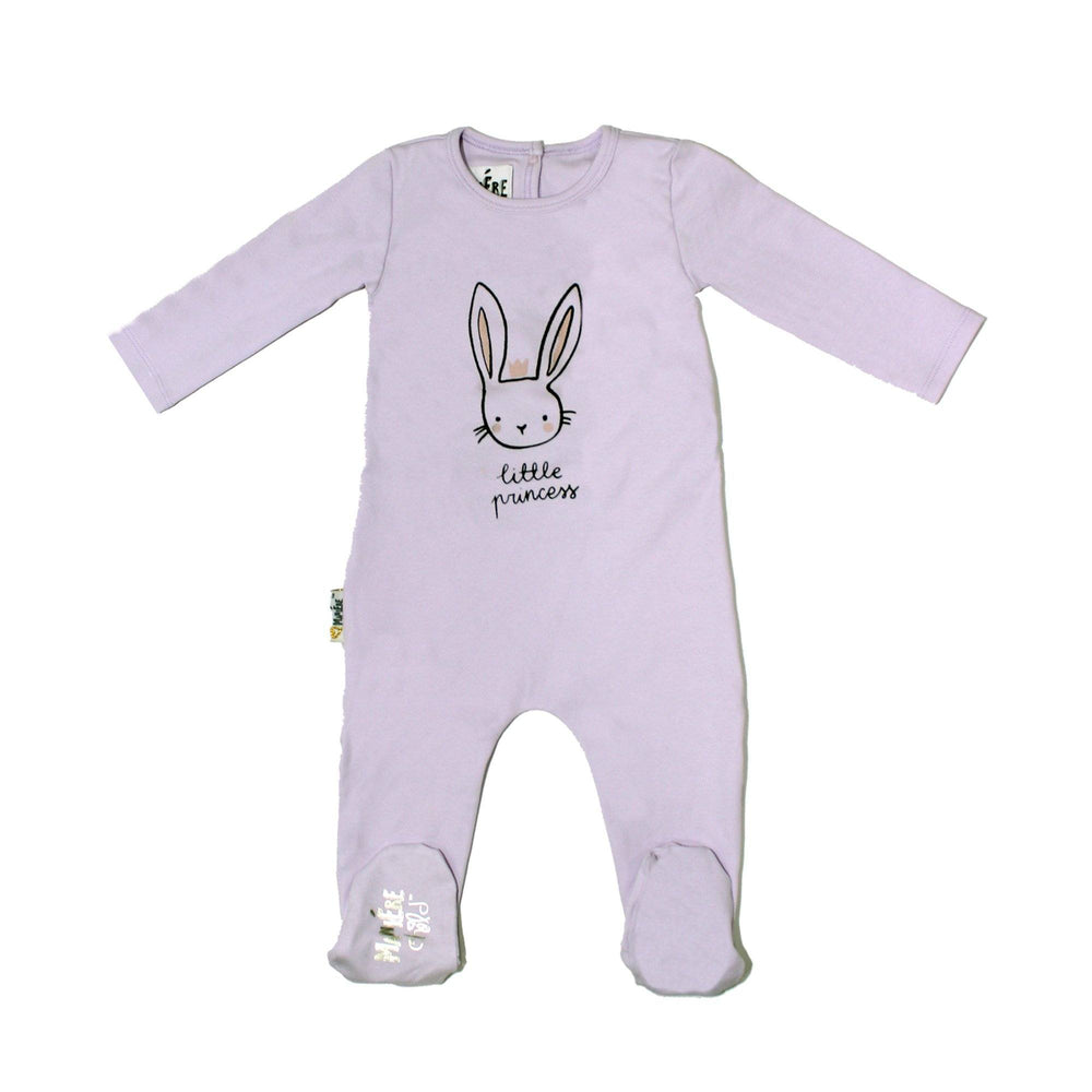 Print Cotton Footie Baby Footies Maniere Accessories Lavender 3 Months
