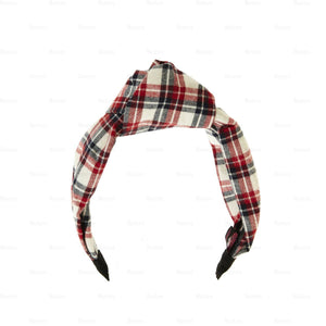 Load image into Gallery viewer, Plaid-Kay-Knot-Headband Headband Manière Red/Blue