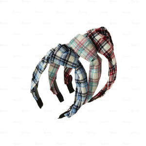 Load image into Gallery viewer, Plaid-Kay-Knot-Headband Headband Manière
