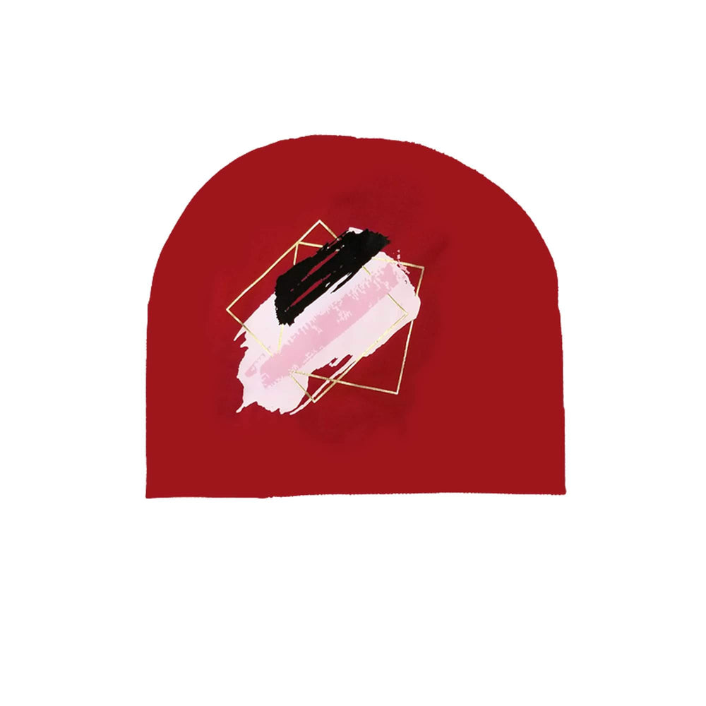 Paint Splatter Beanie (no pom) Maniere Accessories Red XS