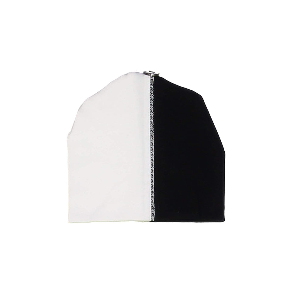 Load image into Gallery viewer, Patch Work Beanie (no pom) Maniere Accessories Black XS