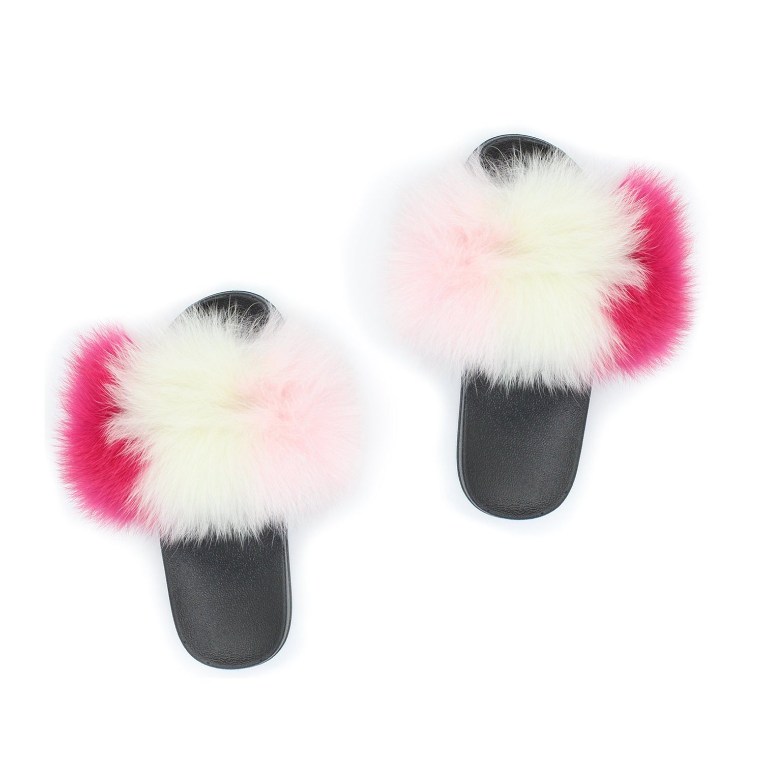 "Children's Genuine Fox ""Furries"" Slippers Premium Fur Maniere Accessories 29 Charcoal"