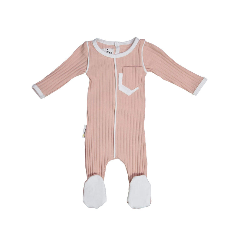 Piped Pocket Footie Maniere Accessories White 3 Month