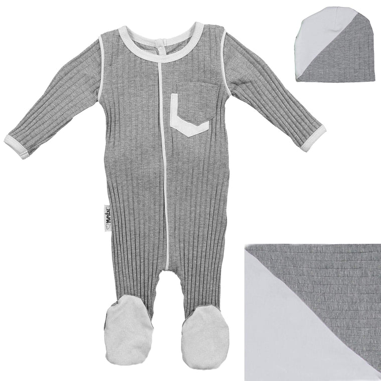 Piped Pocket Footie Set