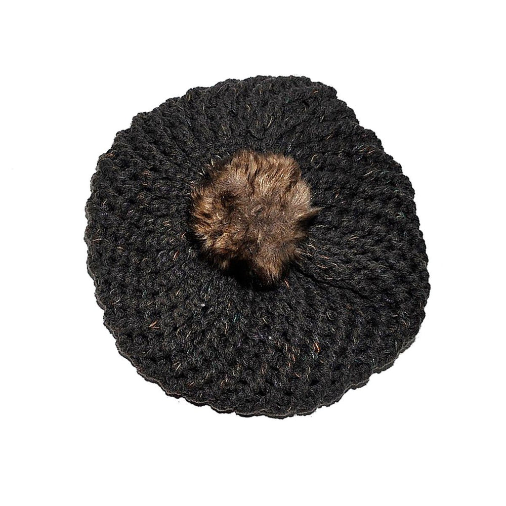 Pom Pom Beret Winter Hat Manière Charcoal Large (Teen/Woman)