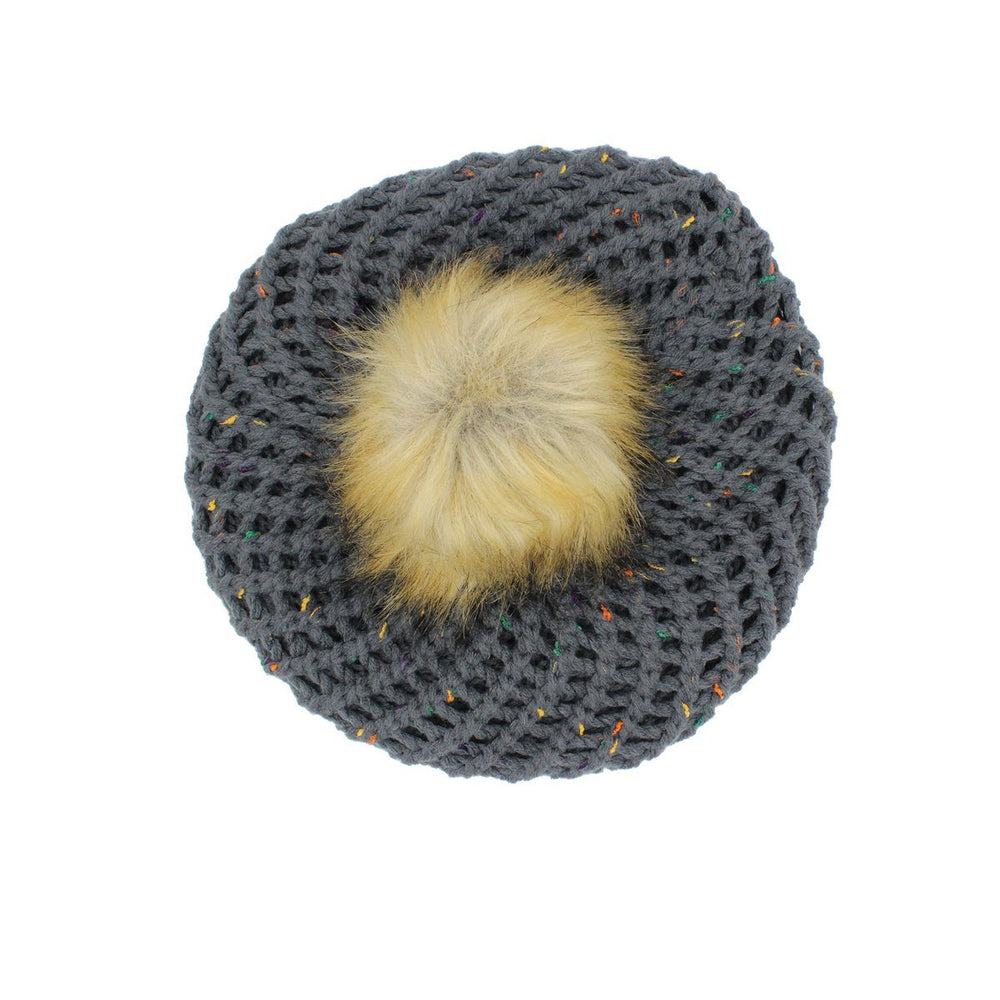 Pom Pom Beret Winter Hat Manière Dusty Grey Large (Teen/Woman)