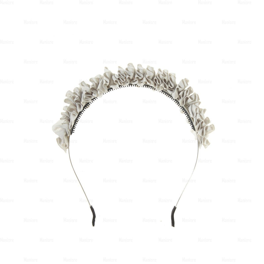 Ruffle-Headband Headband Manière Dusty White