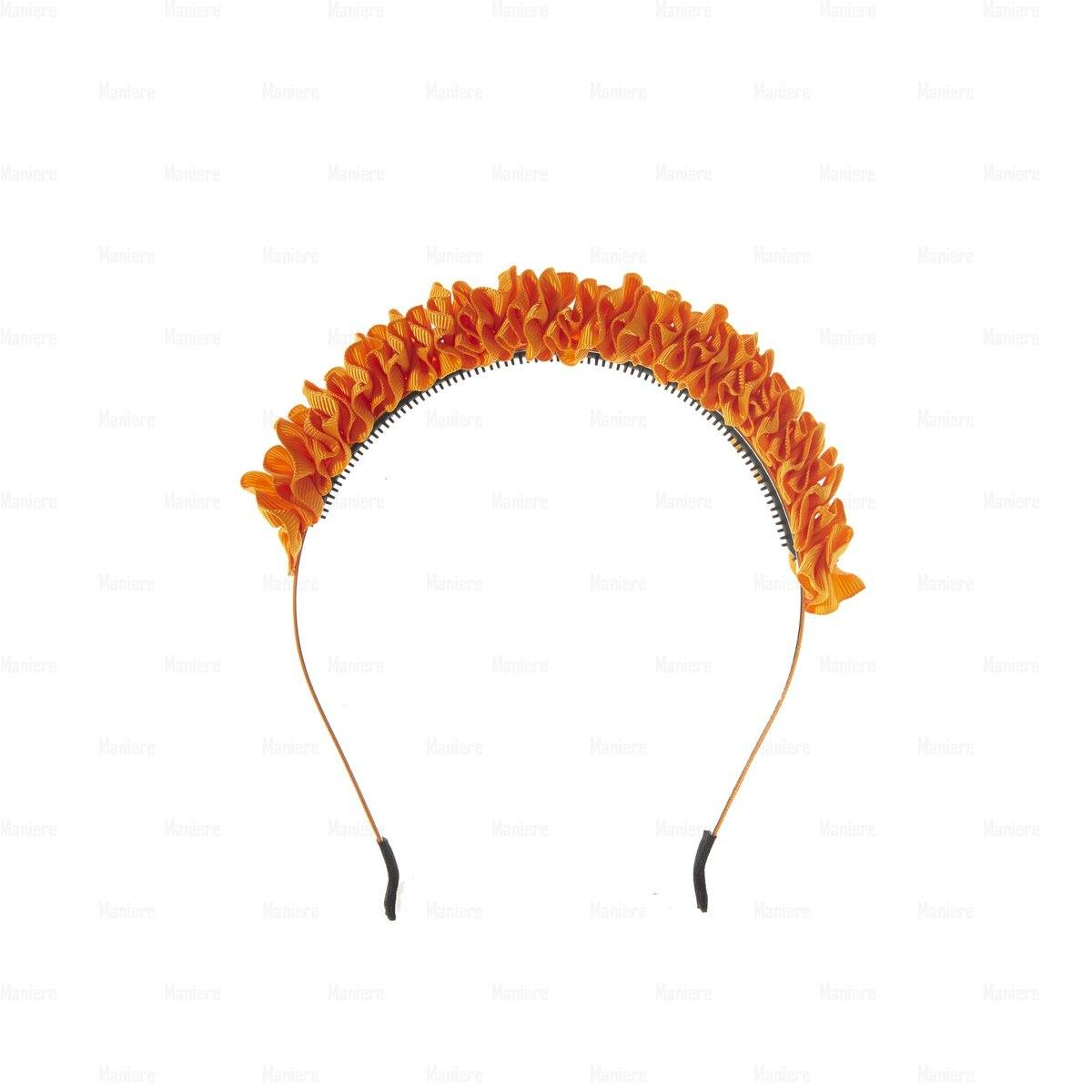 Ruffle-Headband Headband Manière Orange