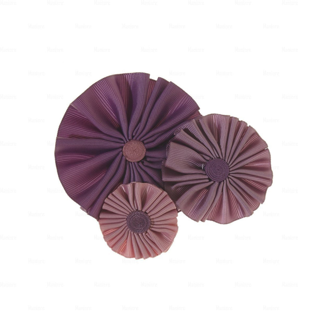 Ribbon Flower Clip Hair Clip Manière Lavender