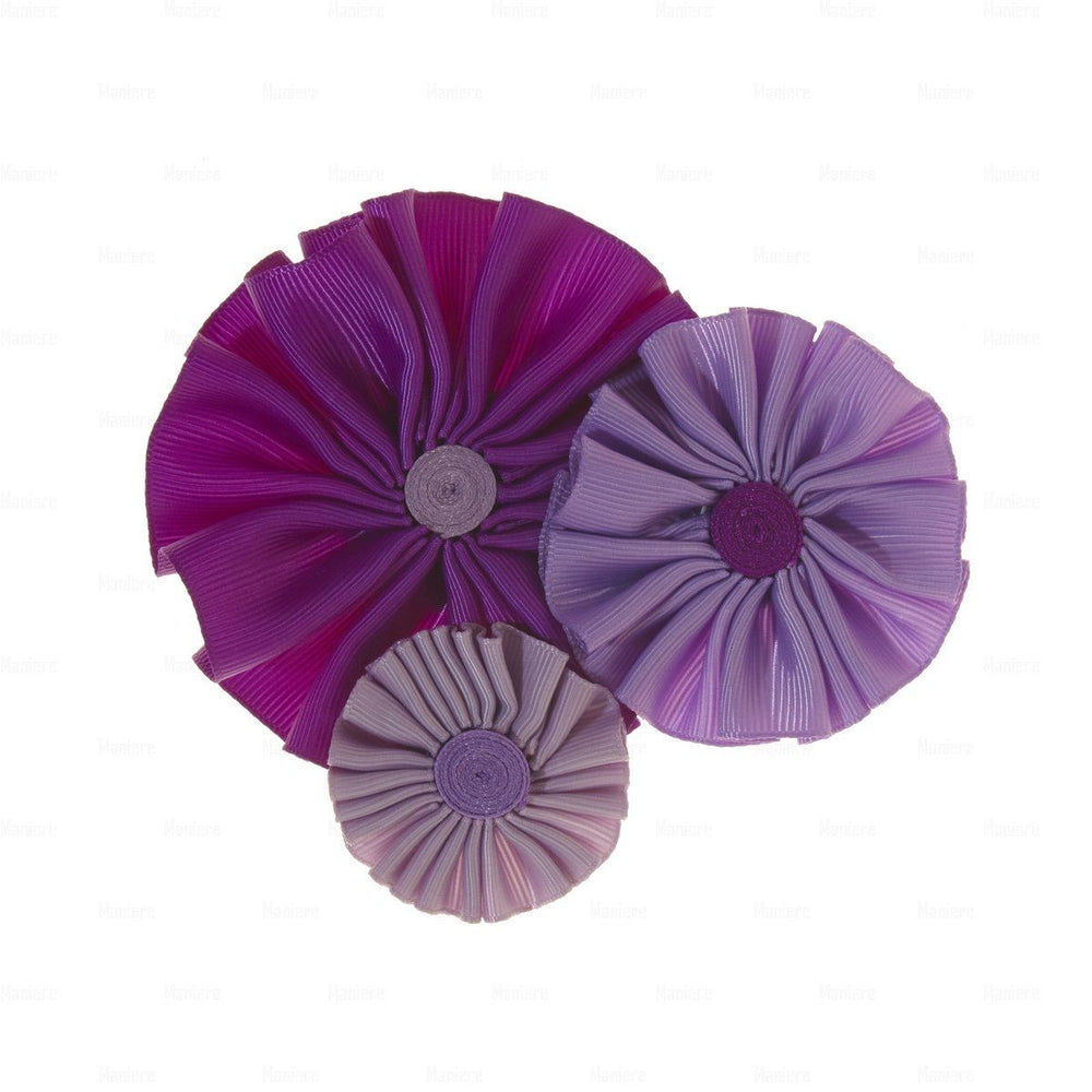Ribbon Flower Clip Hair Clip Manière Purple