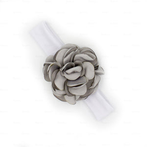 Load image into Gallery viewer, Rose-Petals-Baby-Headwraps Headwrap Manière Dusty Grey