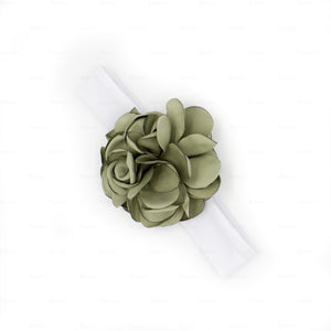 Load image into Gallery viewer, Rose-Petals-Baby-Headwraps Headwrap Manière Olive