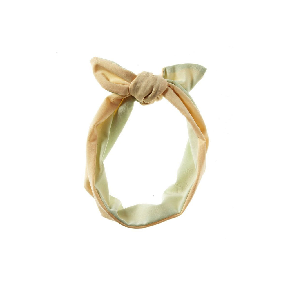 Load image into Gallery viewer, Reversible Tie Band Headwrap Manière Peach/Mint Green