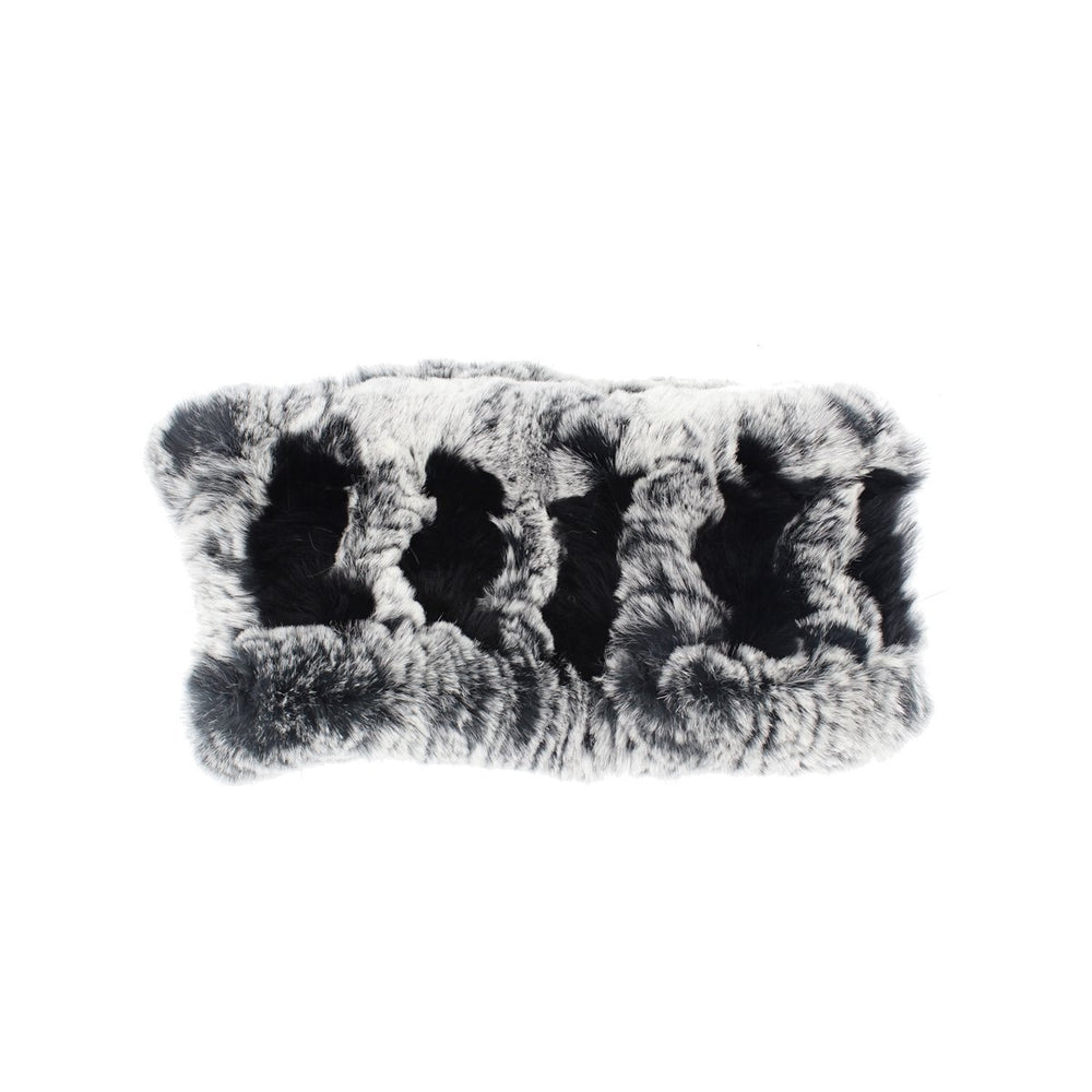 Stretch Rabbit Fur Headwrap Premium Fur Manière Black