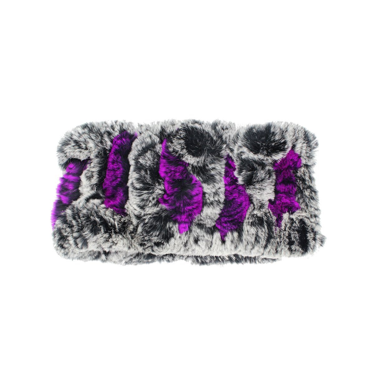 Stretch Rabbit Fur Headwrap Premium Fur Manière Purple