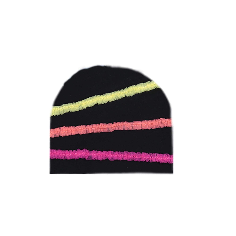 Rainbow Tulle Beanie (no pom) Maniere Accessories Black XS