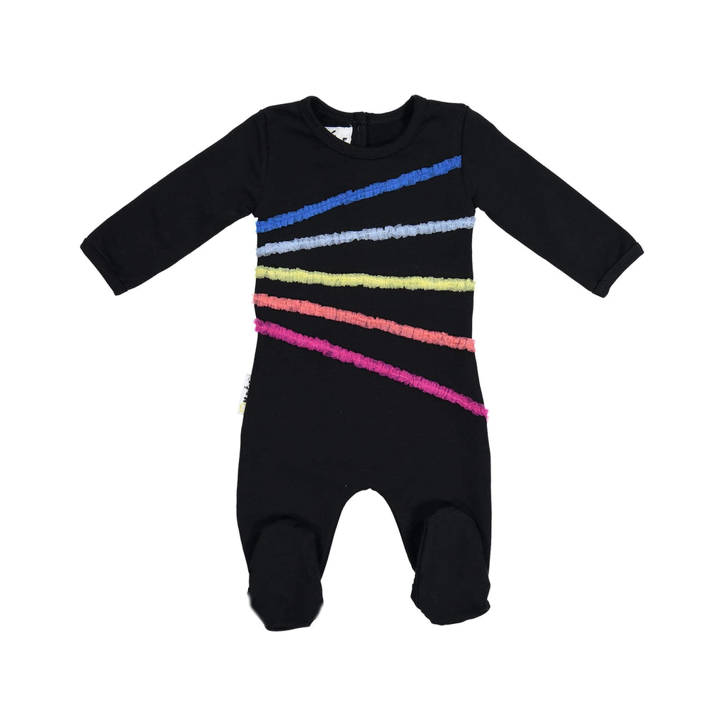 Rainbow Tulle Footie Maniere Accessories Black 3 Month