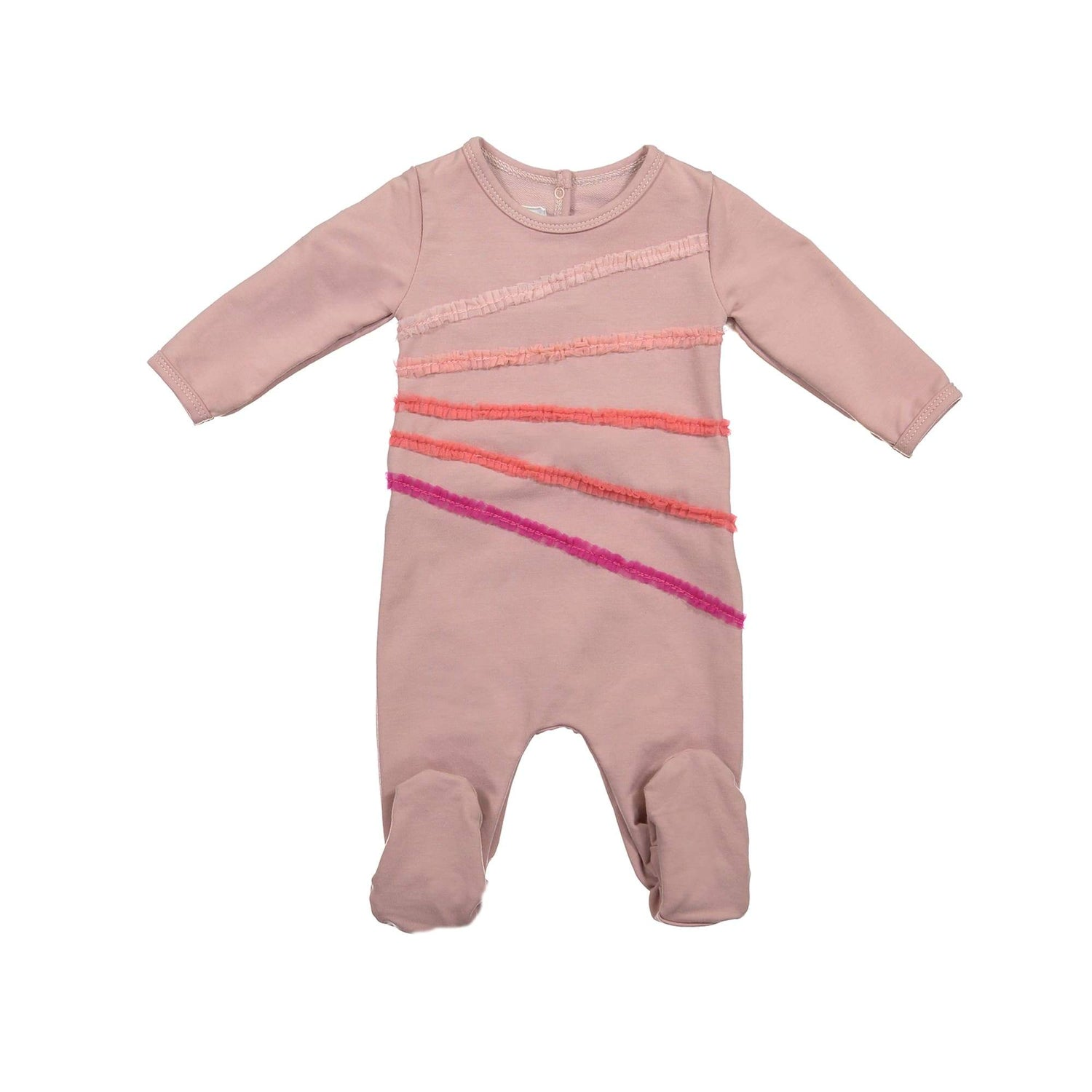 Rainbow Tulle Footie Maniere Accessories Mauve 3 Month