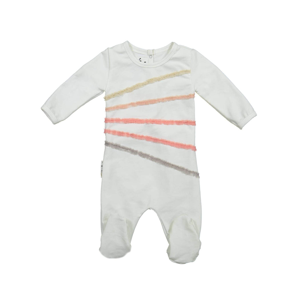 Rainbow Tulle Footie Maniere Accessories White 3 Month