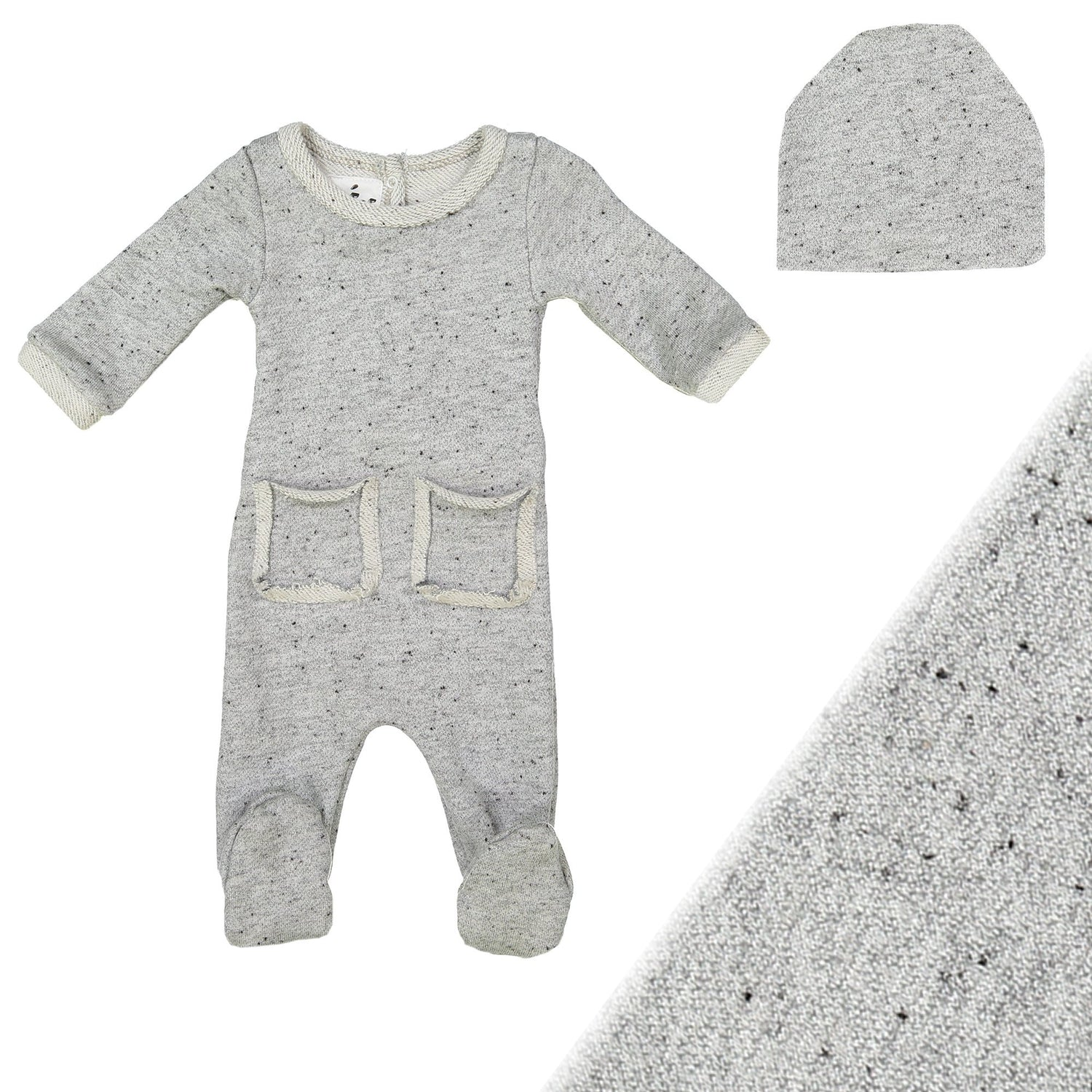 Reverse French Terry Set Maniere Accessories Grey 3 Month
