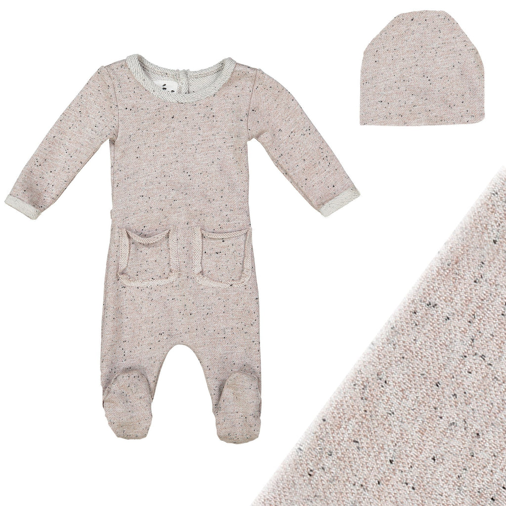 Reverse French Terry Set Maniere Accessories Light Pink 3 Month