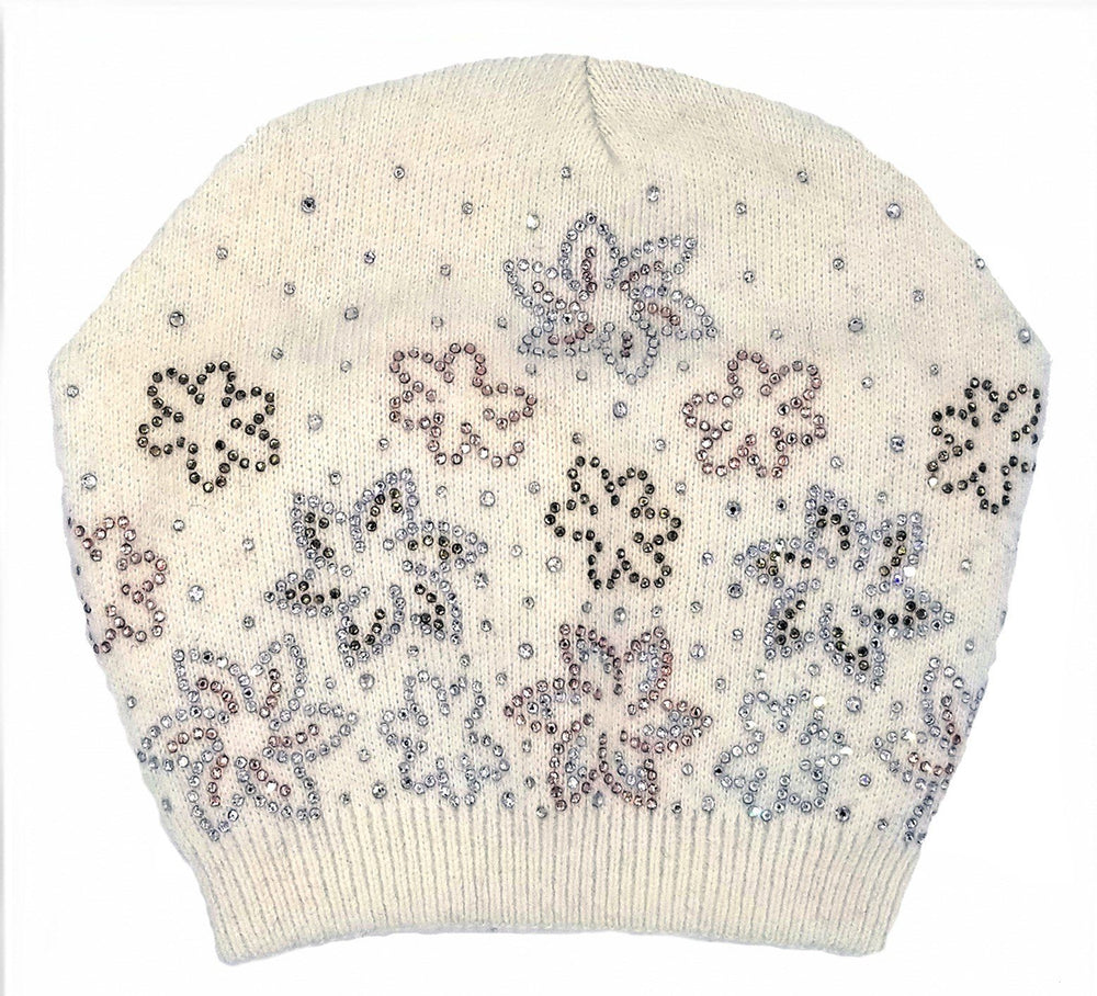 Floral Rhinestone Design Hat Winter Hat Manière