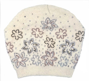 Load image into Gallery viewer, Floral Rhinestone Design Hat Winter Hat Manière