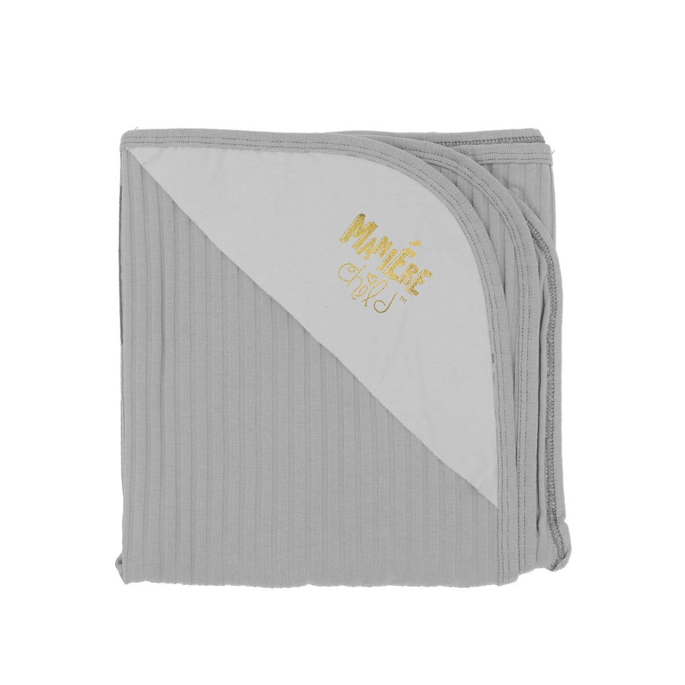 Ribbed Baby Blanket Baby Sets Maniere Accessories Grey