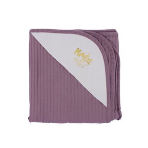 Ribbed Baby Blanket Baby Sets Maniere Accessories Pale Purple
