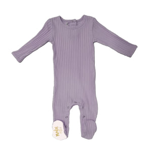 Ribbed Fine Cotton Footie Baby Footies Maniere Accessories 3Months Pale Purple
