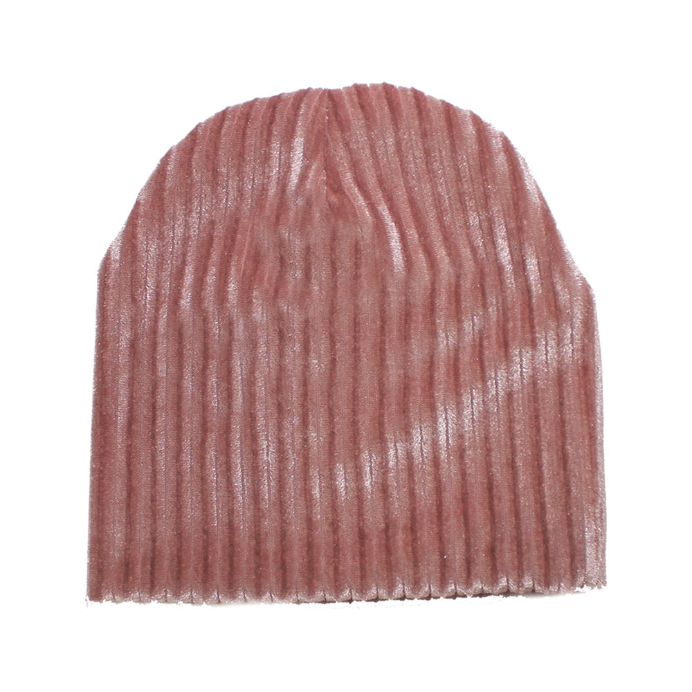 Ribbed Velvet Beanie With Matching Pom Baby Beanie Maniere Accessories
