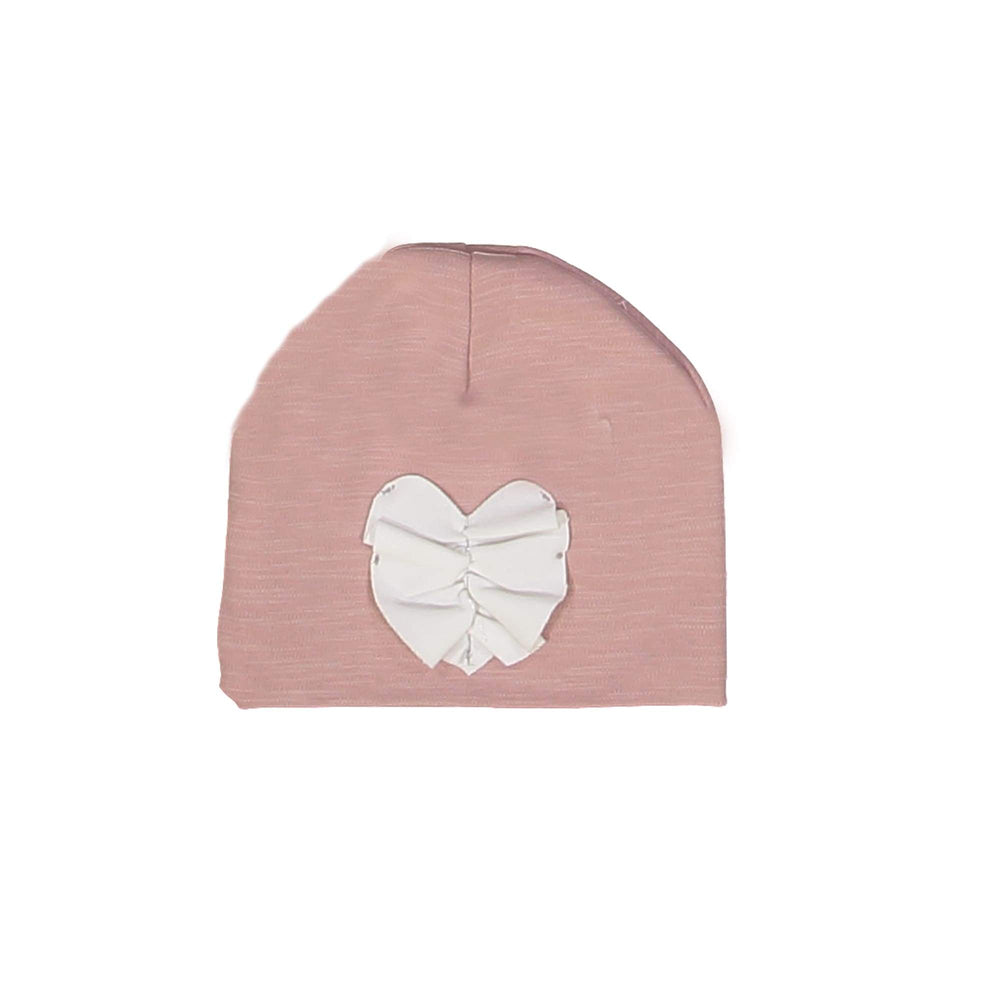 Ruched Heart Beanie (no pom) Maniere Accessories Mauve XS