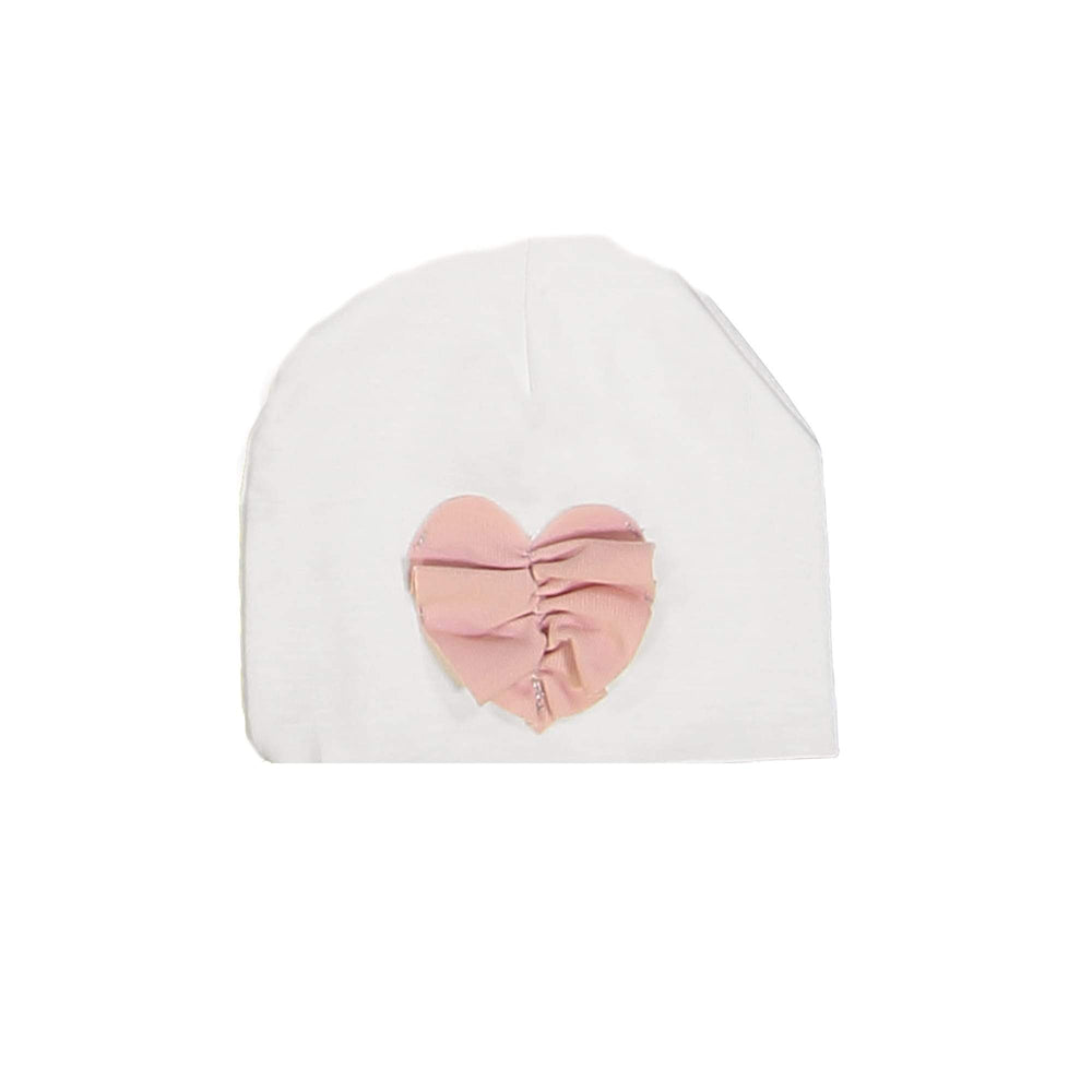 Load image into Gallery viewer, Ruched Heart Beanie (no pom) Maniere Accessories White XS