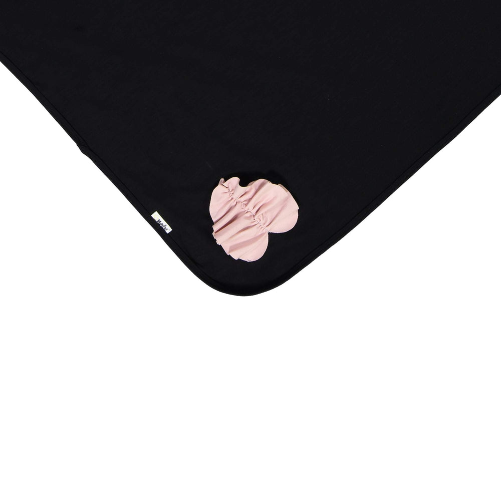 Load image into Gallery viewer, Ruched Heart Blanket Maniere Accessories Black