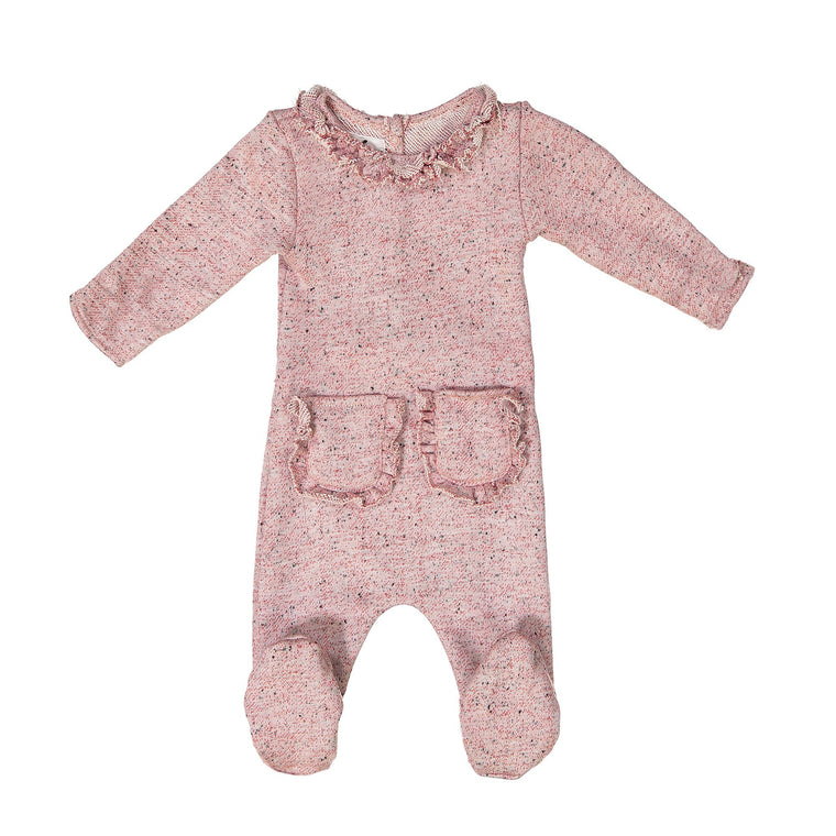 Ruffle Pocket French Terry Footie