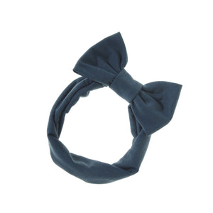 Load image into Gallery viewer, Stretch Bow Headwrap Headwrap Manière Blue