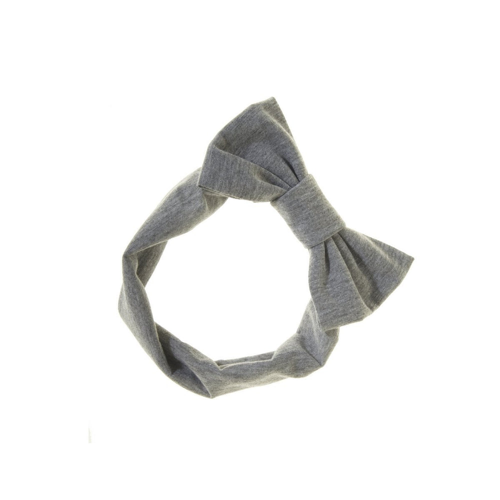 Load image into Gallery viewer, Stretch Bow Headwrap Headwrap Manière Grey