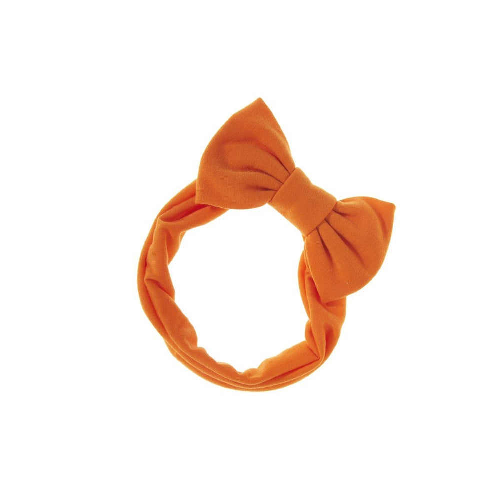 Load image into Gallery viewer, Stretch Bow Headwrap Headwrap Manière Orange