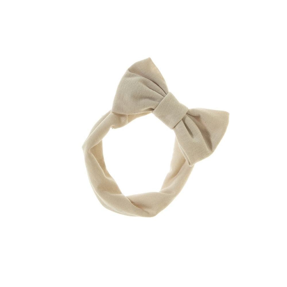 Load image into Gallery viewer, Stretch Bow Headwrap Headwrap Manière Sand
