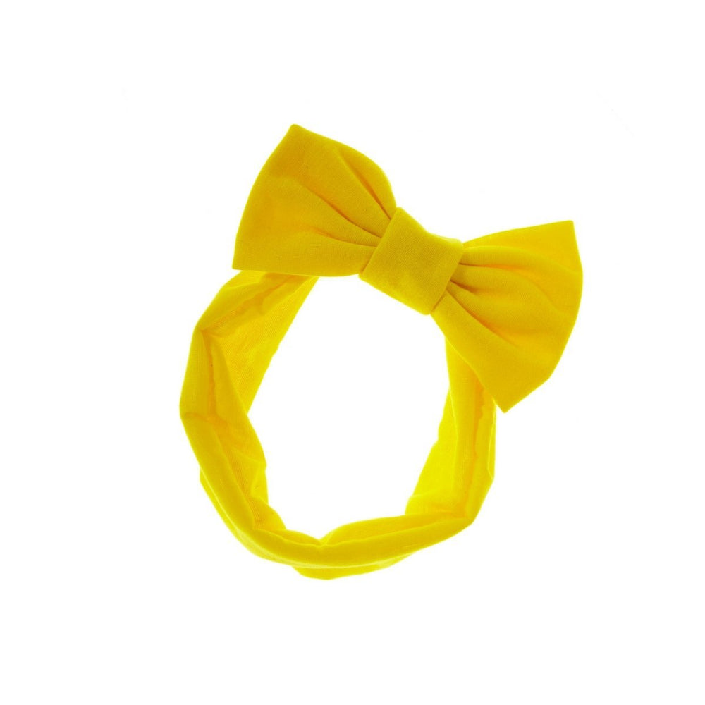 Load image into Gallery viewer, Stretch Bow Headwrap Headwrap Manière Yellow