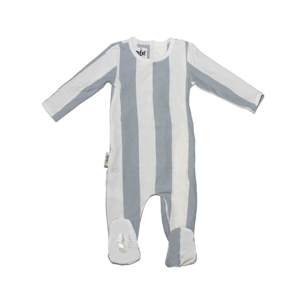 Striped Cotton Footie