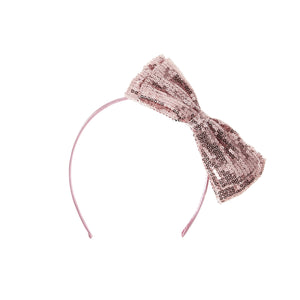Sequin Double Bow Maniere Accessories Pink